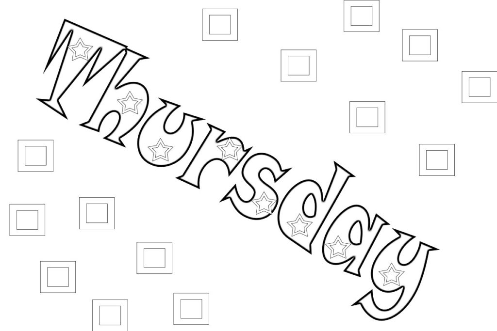 Best Days Of The Week Coloring Pages and Pictures