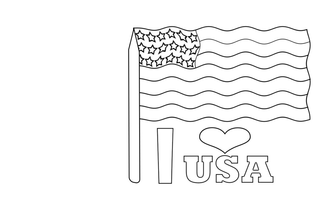 American Flag Coloring Pages Free Printable