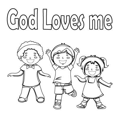 20 Best God Loves Me Coloring Pages and Pictures