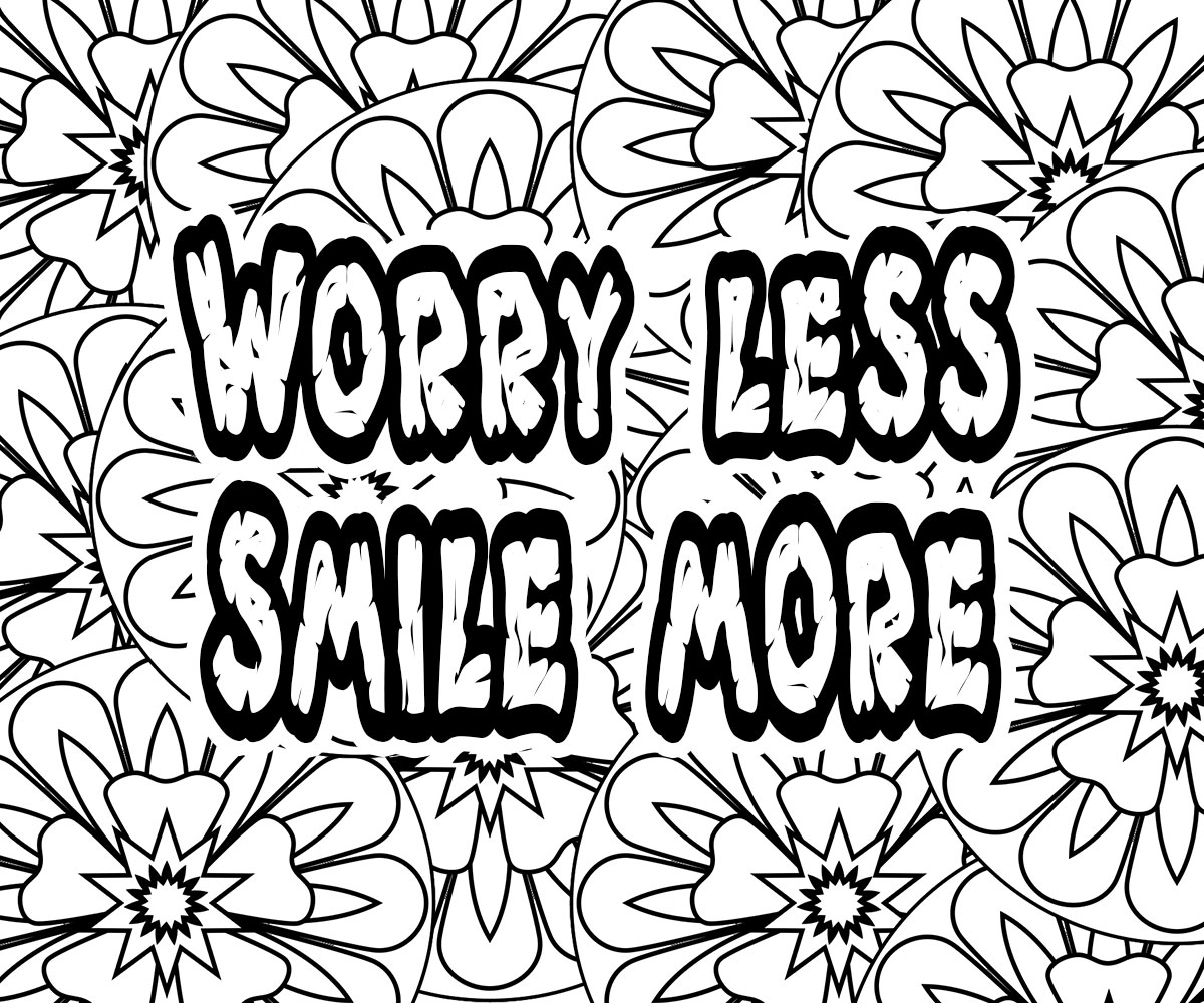 Life Quotes Coloring Pages Free