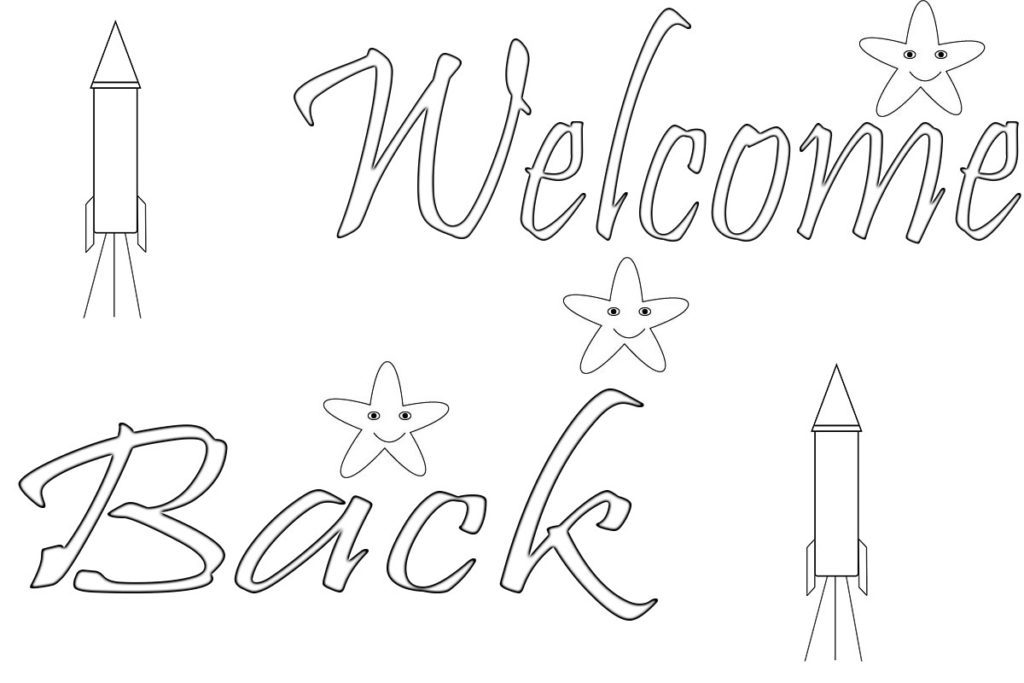 Welcome Back Pages Coloring Pages