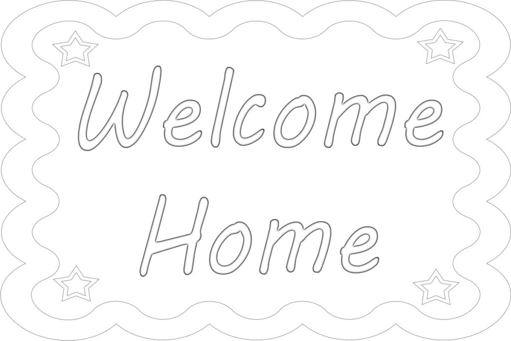 Welcome Friends Coloring Page Coloring Pages