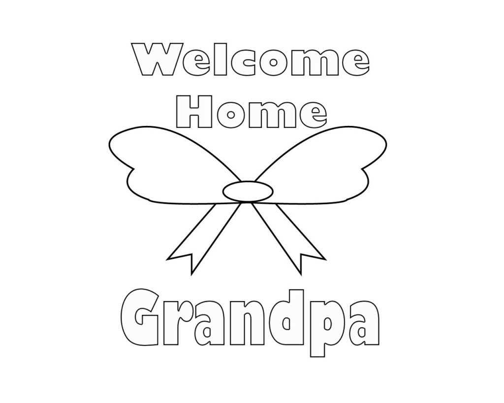 Wonderful Welcome Home Coloring Pages