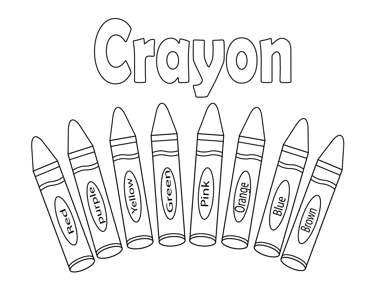 Interesting Crayon Coloring Pages Printable for Kids