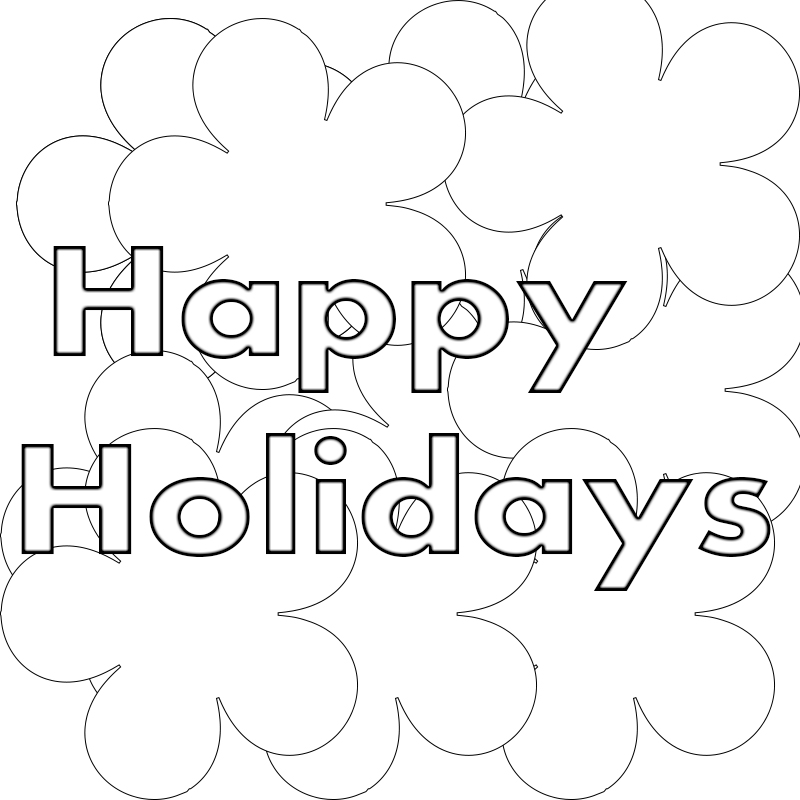 Happy Holidays Coloring Pages To Print,Printable,Free