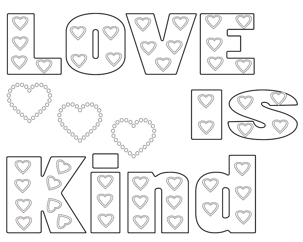 Amazing be kind coloring page, I Can Be,printable , Have
