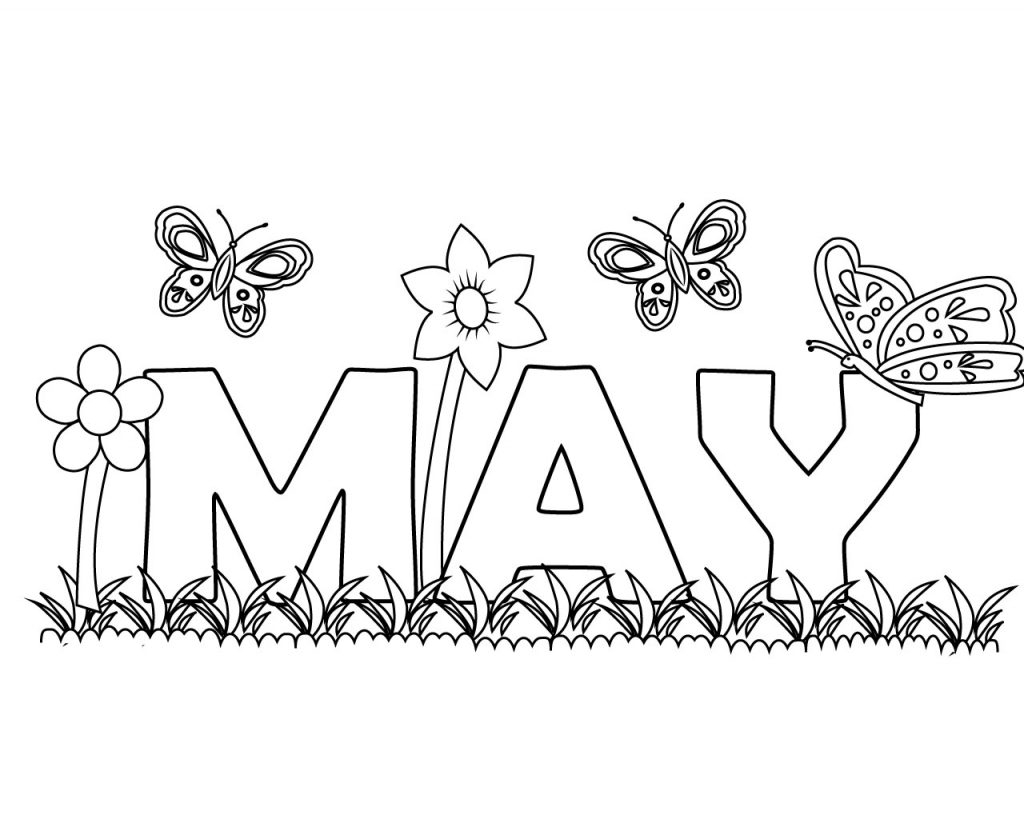 May Coloring Printables Coloring Pages