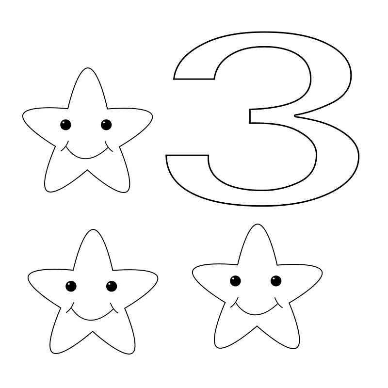 Free Number 3 Coloring Pages Download,for Toddlers,Adding