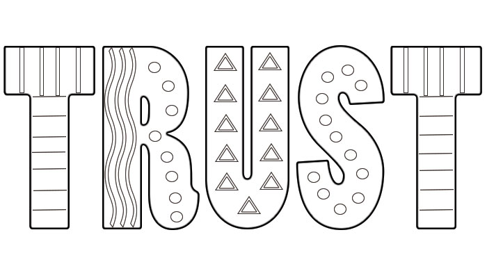 Trust Coloring Pages Sketch Coloring Page