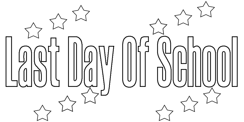 Last Day of School Coloring Pages For Kindergarten,Printable