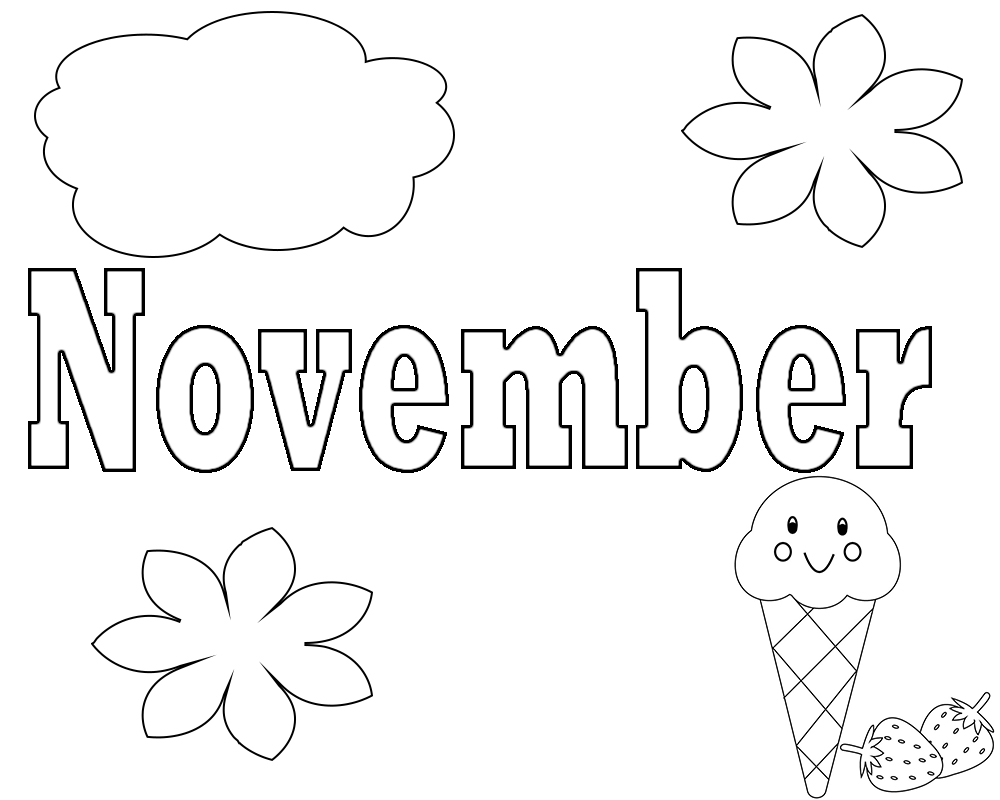 Best November Coloring Pages For Preschoolers,Toddlers