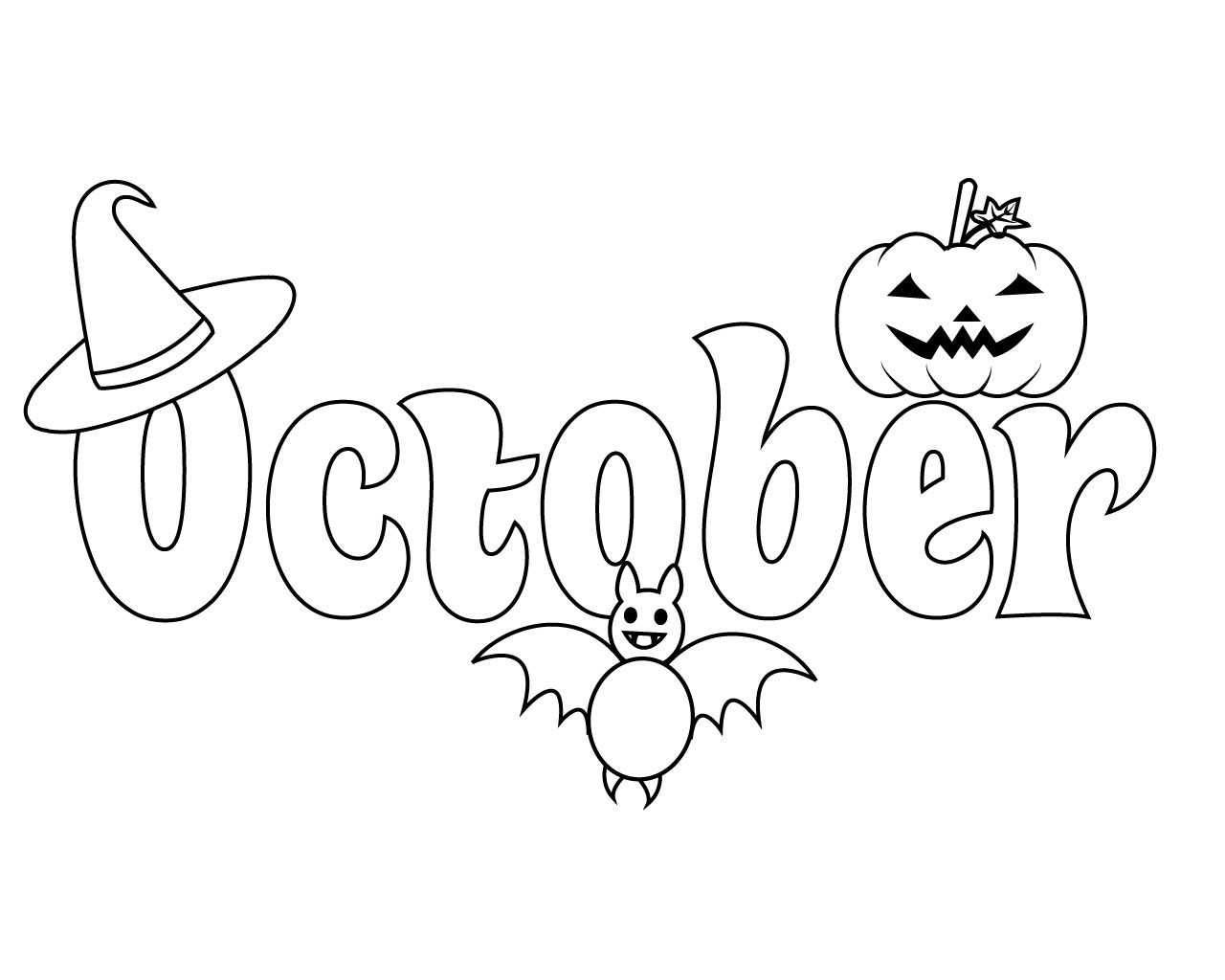 Top 10 October Coloring Pages For Preschoolers