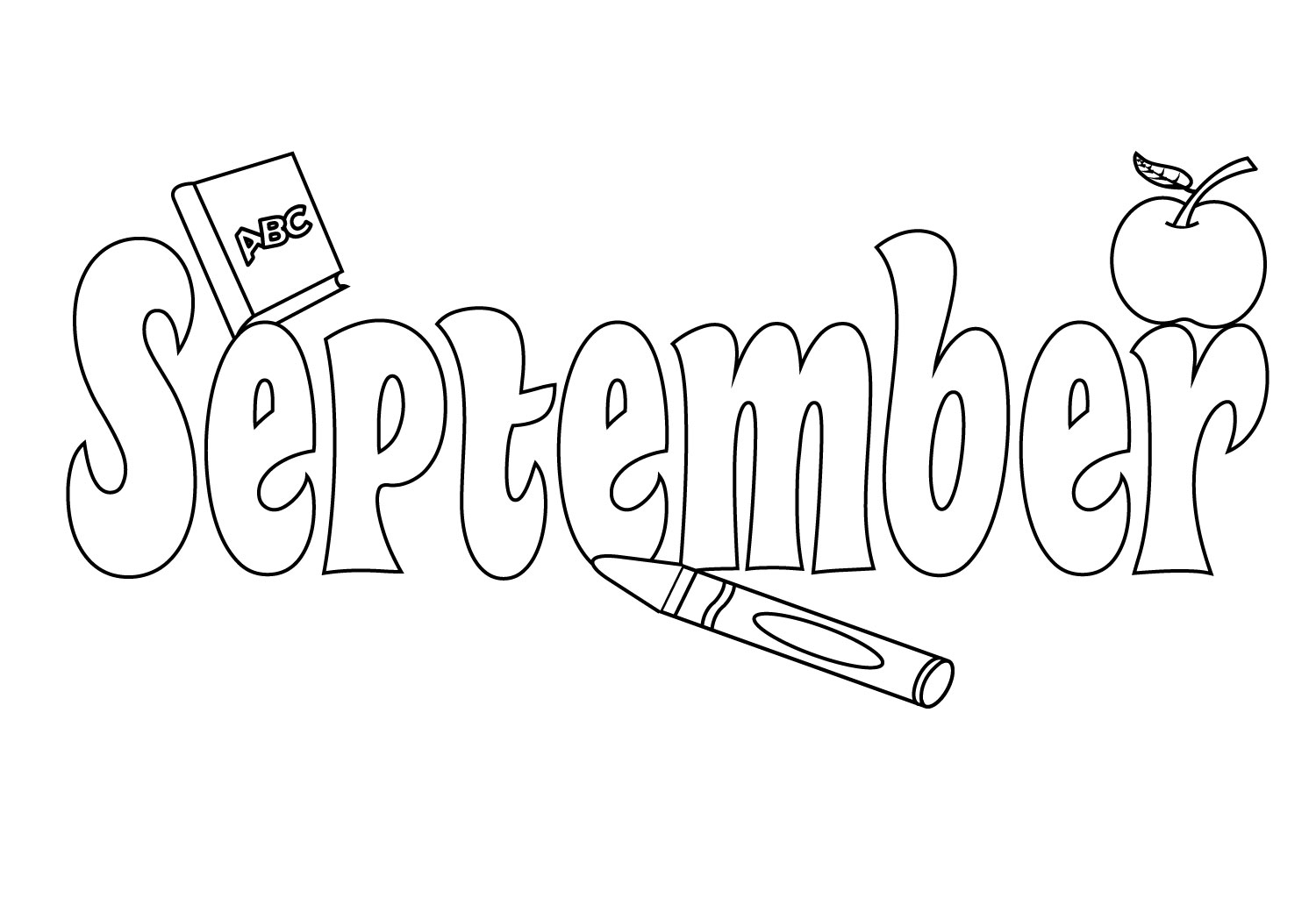 September Coloring Pages To Print Preschool Kindergarten