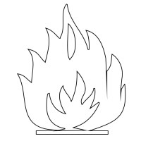 Fire Flames Pages Coloring Pages