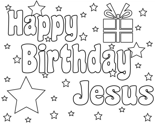 Happy Birthday Jesus Coloring Pages, Free Printable