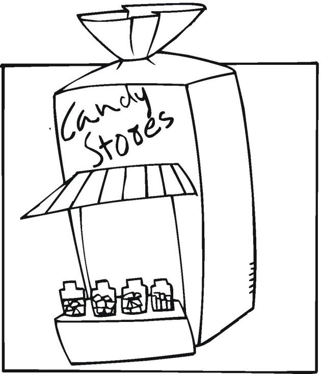 Free coloring pages of snacks