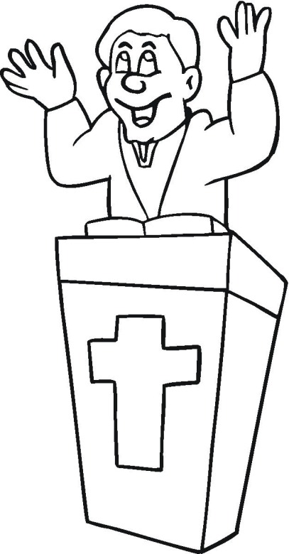 Minister 2 Coloring Page