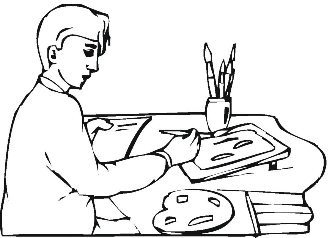 Free Work Coloring Pages