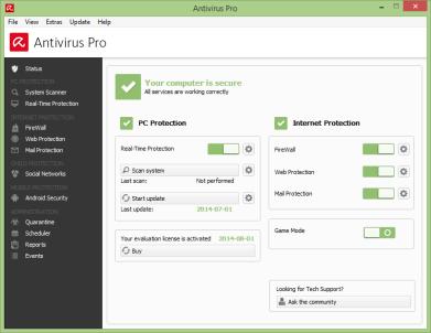 Avira Free Antivirus 15.0.42.11