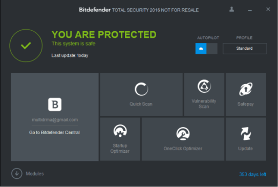 BITDEFENDER TOTAL SECURITY 2016 key
