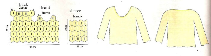 For this beautiful crochet blouse pattern free - See the step by step graphics – Yarn of Crochet – free crochet fashion