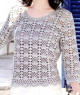 Learn how to make this crochet blouse effortlessly. Choose your yarn and make this beautiful crochet blouse free pattern