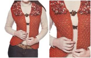 Womens Vest Crochet Patterns - Free crochet diagram