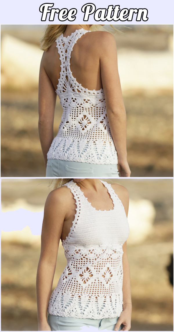 02 Crochet Blouse Free Pattern Choose Your Yarn And Follow The