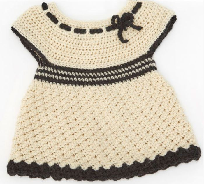 Girls Clothes: see the free pattern of this Crochet Baby Dress ...