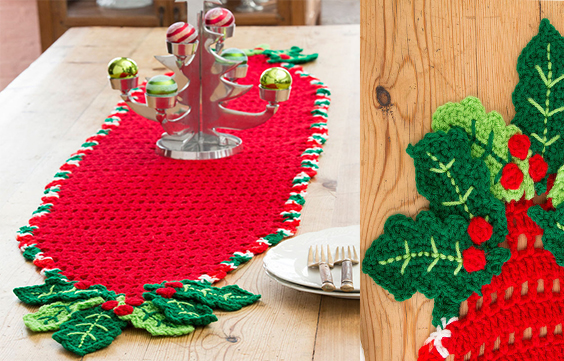 Holly-Trim-Table-Runner-Free-Pattern-Christmas-Decoration-Yarn-of ...