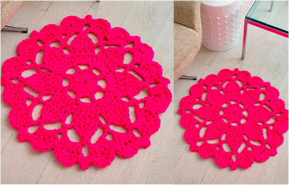 Crochet Area Rug Pattern Free With All Instructions Yarn Of Crochet