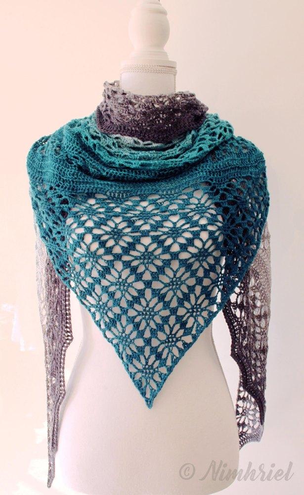 Triangular Shawl Crochet Free Pattern Maestrale Yarn Of Crochet