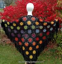 Flowers Motif Shawl Free Crochet Pattern | Free Crochet ...