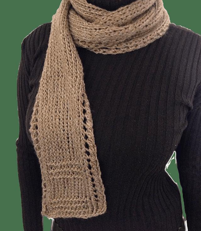 Free Unisex Easy Beginner Lace Border Scarf Knitting Pattern