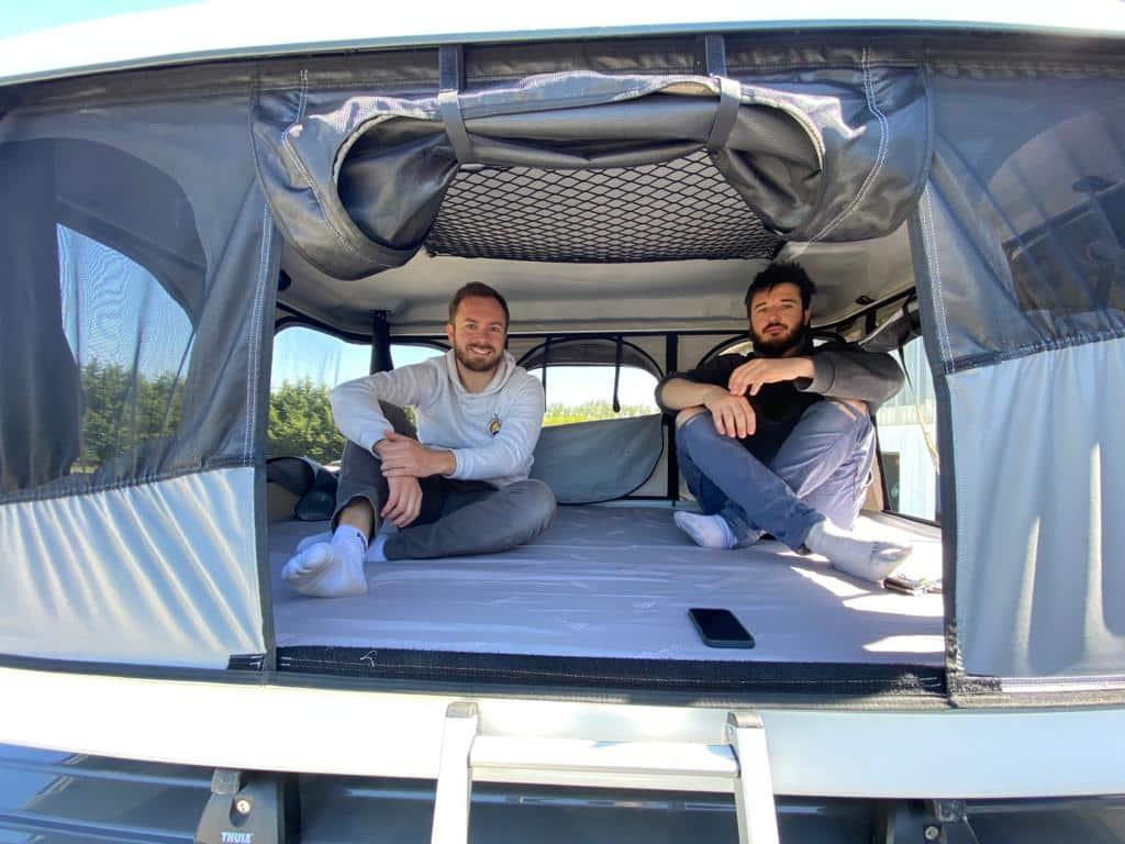 Tente_toit_mobile_freedom_camper Location van aménagé 5 personnes, le Waïkato