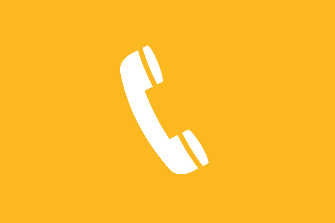 yellow phone icon