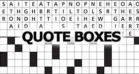 Quote Boxes Crossword