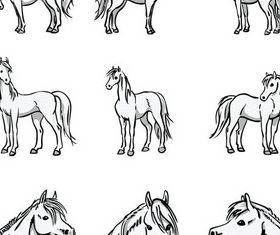 Fire horse 2014 design vector 05 free download