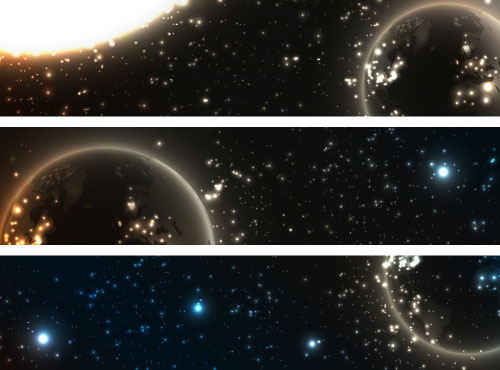 Abstract Starry Sky Vector Banner 01 Vector Banner Free