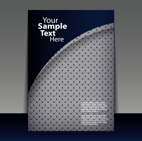 Brochure Cover Design Elements Vector Graphic Set 07 Free