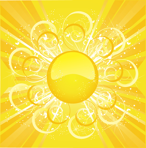 Dazzle Sunshine Background Vector 03 Vector Background