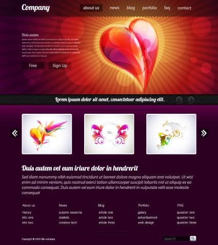 Black Style Website Templates Design Vector 01 Vector