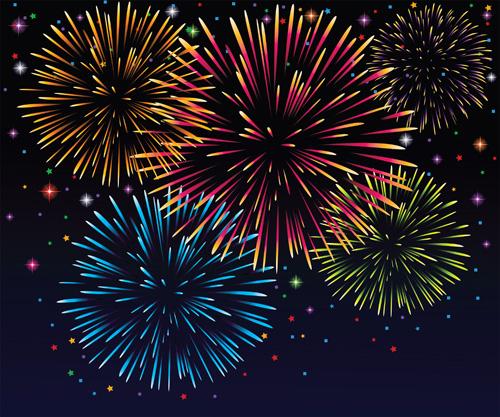 Car Wallpaper Bussines Card Set Of Holiday Fireworks Design Vector Material 20