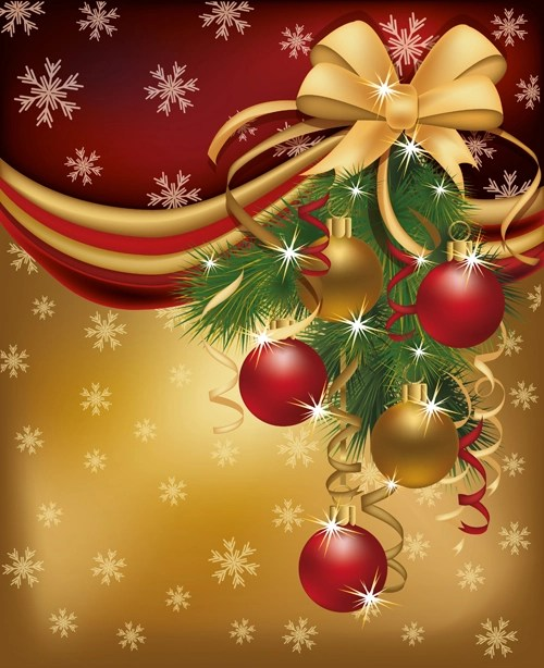 Set Of 2013 Red Golden Christmas Cards Design Vector 04