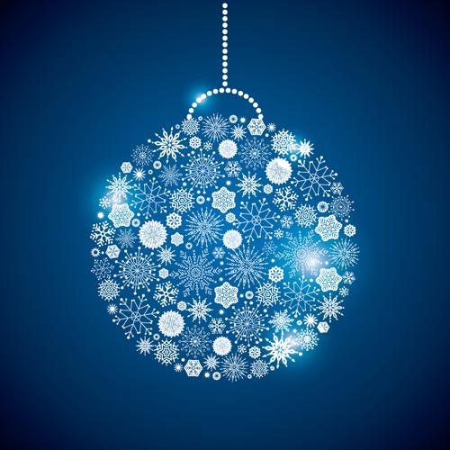 Shining Snowflakes Ornaments Design Vector Graphics 09