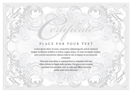 Cover template Gentle certificate vector 05 free download