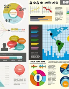 Chart elements of color vector graphic also free download rh freedesignfile