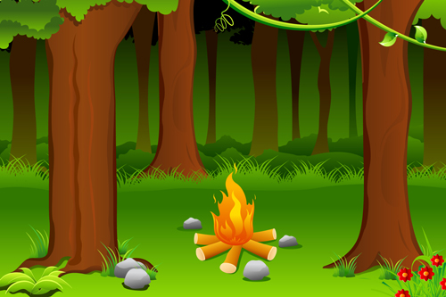 Hd Girl Highlights Wallpaper Set Of Camping Design Elements Vector 02 Over Millions