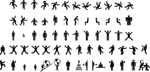 Action figures icons Vector free download
