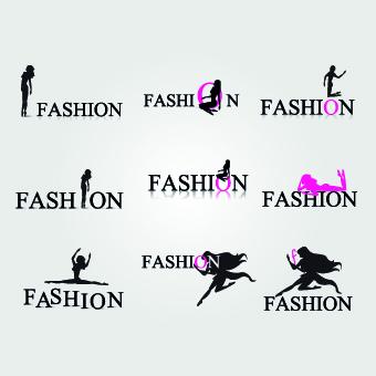Fashion sports logos vector 04